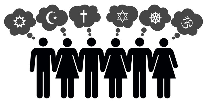 Vector people of different religions