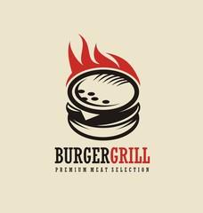 Burger logo design idea