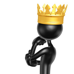 The Original King 3D Character Illustration In Contemplation