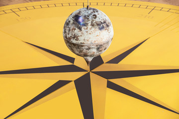 Foucault's pendulum close-up.