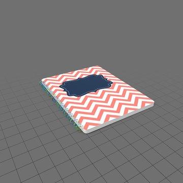 Striped spiral notebook