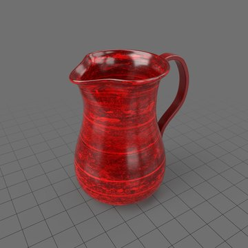 Decorative red water pitcher