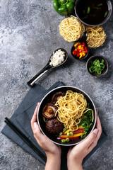 Asian vegan noodles