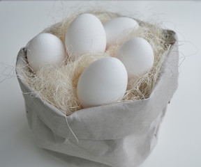 Eggs in the paprbag