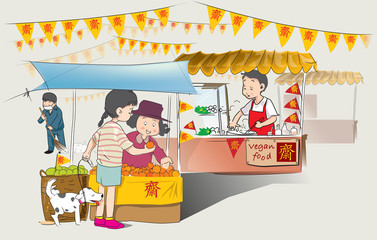 Chinese Vegan food festival in thailand