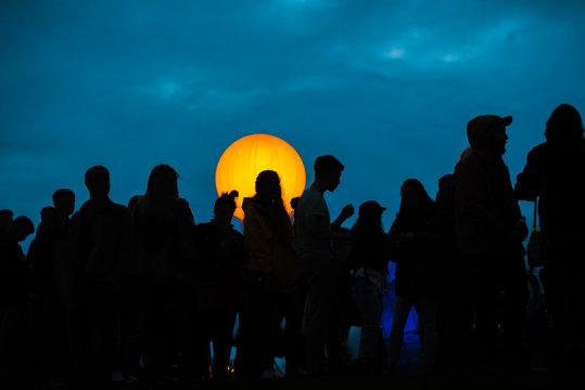 Music Festival at Night