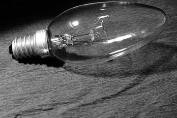 Bulb black and white photo