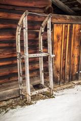 Old wooden Sleigh