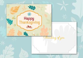 Thanksgiving Greeting Card Layout 2