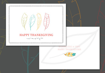 Thanksgiving Greeting Card Layout 4