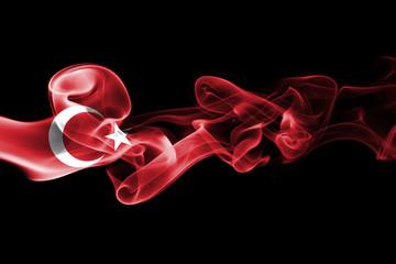 Serbia national smoke flag