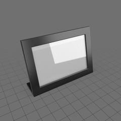Wide desktop picture frame