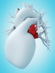3d rendered medically accurate illustration of the left atrium