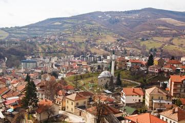 panoramas of small towns near sarajevo, bosnia
