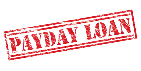 payday loan red stamp on white background