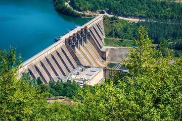 Photo sur Aluminium Barrage Dam Perucac on a Drina river. Hydroelectric