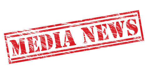 media news red stamp on white background