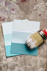 paint swatch with paint brush