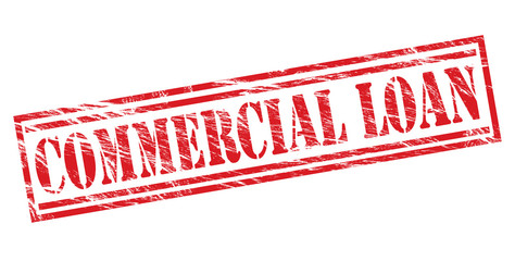commercial loan red stamp on white background