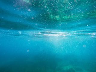 Mediterranean surface underwater.