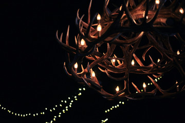 A Chandelier Made Of Antlers