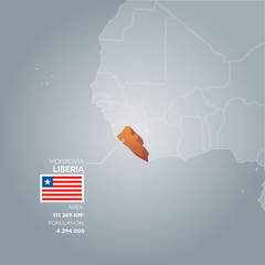 Liberia information map.