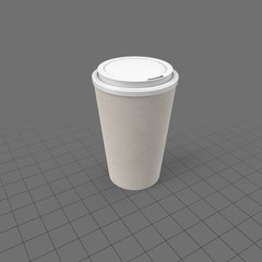 Disposable coffee cup with lid