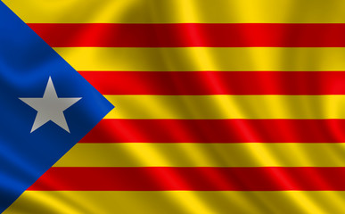 National flag of Catalonia-Estelada