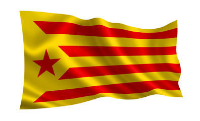 Flag of Catalonia. Flag of the socialist movement of Catalonia.