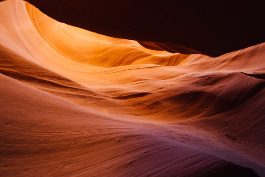 Colored sandstone in Antelope Canyon