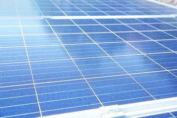 Solar panels outdoors, closeup