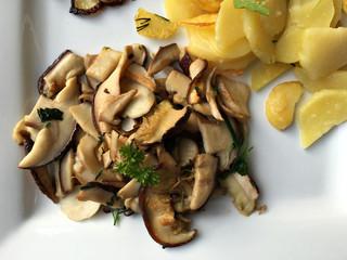 organisch, lifestyle, vegane, ernährung, steinpilze, Bratkartoffeln, Röstzwiebeln, modern, neu