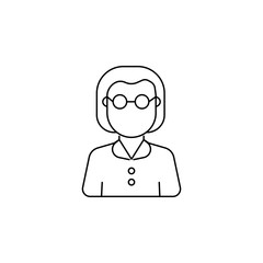 Teacher woman avatar icon