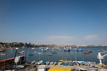 Rush hour in the Cascais harbor