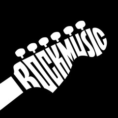Rock Music lettering