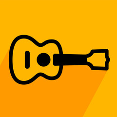 Acoustic guitar simple icon