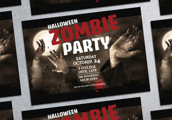 Halloween Zombie Party Flyer Layout 2