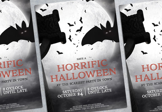 Halloween Party Flyer Layout 10