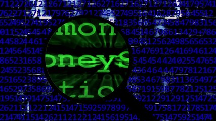 Wall Mural - Search for money online