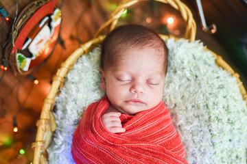 Newborn baby christmas vintage