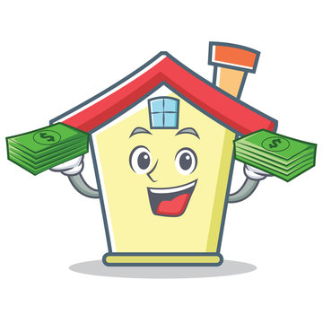 With money house character cartoon style