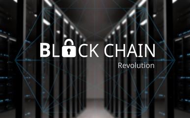 Concept of  Blockchain, Cryptocurrency platform
