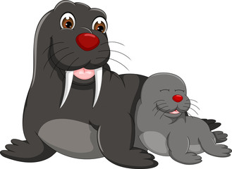 funny seals cartoon enjoy with sleeping