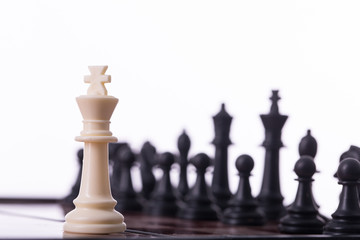 Competition chess business concept.