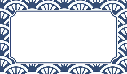 Chinese Porcelain Style Background, Template, Fans