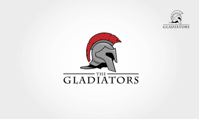 It's a Roman soldier or spartan, or gladiator helmet logo, this logo try to symbolize a strength, power, and concept of heroic
