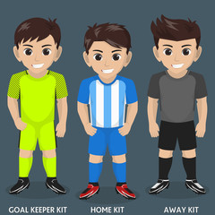 Vector of Football / Soccer Team Kit / Jersey for Spanish Club 2017/18