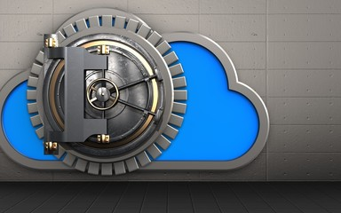 3d cloud vault door