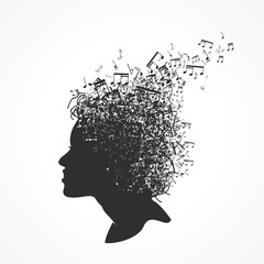 visage note de musique