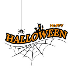 happy halloween white poster design eps 10 vector